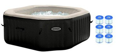 Intex Pure Spa 4-Person Inflatable Jet & Bubble Hot Tub w/ 6 Filter Cartridges